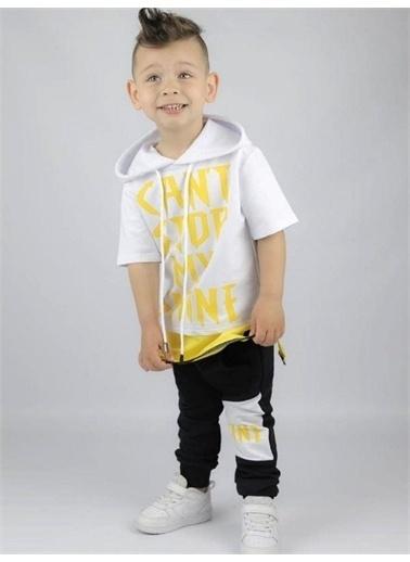 Riccotarz Erkek Çocuk My Shine Fermuar Detaylı Eşofman Takım Sarı